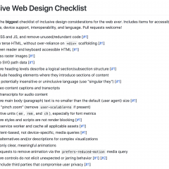 Inclusive Web Design Checklist